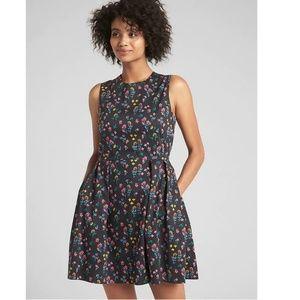NWT Gap '18 Fit & Flare Dress 8 Floral 308490 v1,9